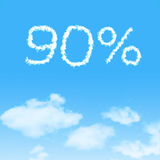 Cloud icon with design on blue sky. Background royalty free stock photo
