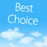 Cloud icon with design on blue sky Stock Image