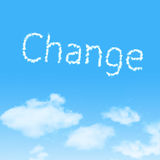 Cloud icon with design on blue sky Royalty Free Stock Image