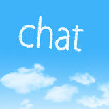 Cloud icon with design on blue sky. Background stock photography