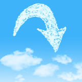 Cloud icon with design on blue sky Royalty Free Stock Photos