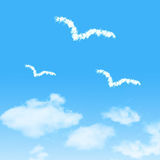 Cloud icon with design on blue sky Stock Photo