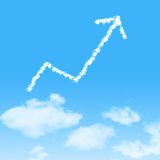 Cloud icon with design on blue sky Stock Photos