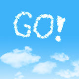 Cloud icon with design on blue sky Royalty Free Stock Images