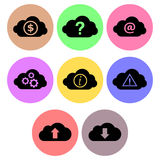 Cloud icon designs set 2 Royalty Free Stock Image