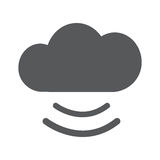 Cloud icon, flat vector illustration. EPS 10 Stock Photography