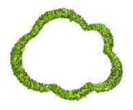 Cloud icon from the green grass. Isolated Royalty Free Stock Photo