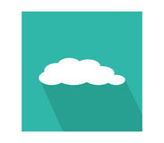Cloud icon illustrated Royalty Free Stock Photos