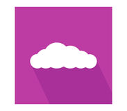 Cloud icon illustrated Stock Photography