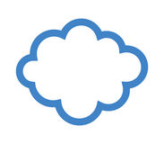 Cloud icon illustrated Stock Photos