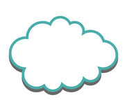 Cloud icon illustrated Royalty Free Stock Image