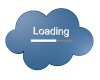 Cloud icon with Loading text Royalty Free Stock Photography