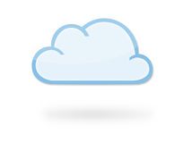 Cloud Icon. Modern cloud icon with reflection and shadow, which could represent cloud computing, weather