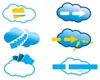 Cloud icon set. Design of  cloud icon set  ilustration Royalty Free Stock Photo