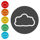 Cloud icon set vector illustration