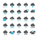Cloud icon set. /16 vector for design Royalty Free Illustration