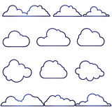 180715 Cloud icon set Stock Photography