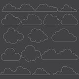 220715 Cloud icon set. Vector illustration of clouds collection Stock Photo