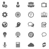 Cloud Icon set Stock Photos