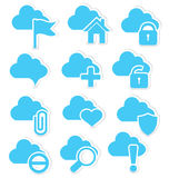 Cloud icon set web Stock Photo