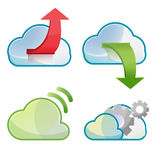 Cloud Icon Symbol Design Set Vector Royalty Free Stock Image