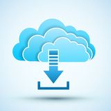 Cloud  icon. Vector illustration Royalty Free Stock Photos