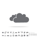 Cloud icon on white background Royalty Free Stock Photos