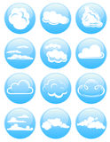 Cloud icons Stock Photos