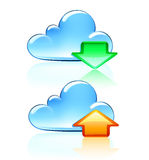 Cloud  Icons Royalty Free Stock Images