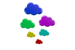 Cloud icons concept Royalty Free Stock Image