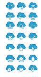 Cloud Icons Stock Photography