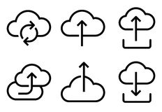Cloud icons set Stock Image