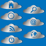 Cloud icons set. Stock Image