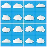 Cloud icons set  Stock Images
