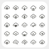 Cloud icons set Stock Photo