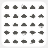 Cloud icons set Stock Photos