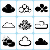 Cloud Icons Set Royalty Free Stock Image