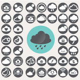 Cloud icons set. Stock Images