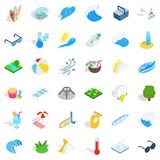 Cloud icons set, isometric style. Cloud icons set. Isometric style of 36 cloud vector icons for web isolated on white background Royalty Free Stock Image