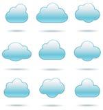 Cloud Icons Stock Photo