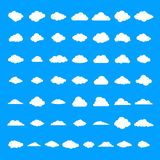 Cloud icons set, simple style vector illustration