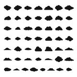 Cloud icons set, simple style. Cloud icons set. Simple illustration of 50 cloud  icons for web Royalty Free Illustration