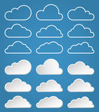 Cloud icons set Royalty Free Stock Photo