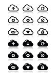 Cloud  icons set for web Royalty Free Stock Image