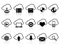 Cloud with icons set Stock Photo