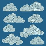 Clouds. Vector flat design elements set. Royalty Free Stock Images
