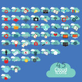 Cloud icons Royalty Free Stock Image