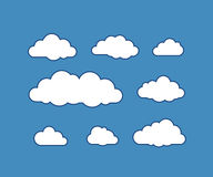 Cloud icons on vector illustration Stock Images