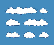 Cloud icons on vector illustration Royalty Free Stock Photos