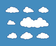 Cloud icons on vector illustration Royalty Free Stock Photography